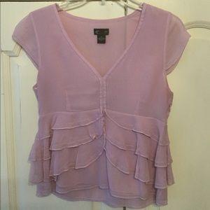 Cap sleeve pink top